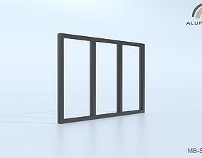 3D Aluprof MB-SG50 Fasada strukturalna 004 M-0327