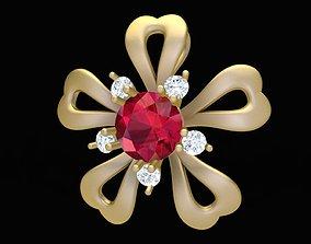 1902 Flower Diamond Pendant 3D print model