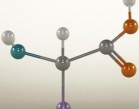 3D Molecule Amino Acid atoms