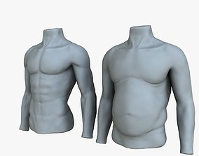 Male Mannequin Before and After 3D model