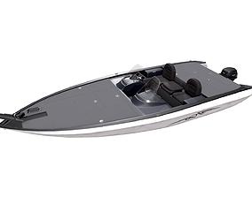 3D asset Motorboat PBR