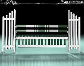 white green jump 3D model