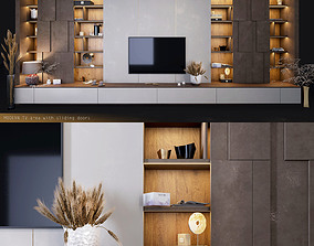 Furniture for TV zones with decor 3D asset