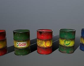 can Barrel 3D model low-poly