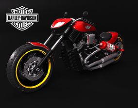 harley custom 3D