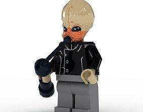 LEGO Minfigure Bith Musician 3D