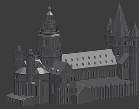 Mainz Cathedral 3D print model romanesque