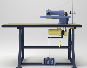 Tailors Industrial Blind Stitch Sewing Machine 3D asset