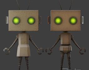 Rusty Litlle Couple Robot 3D model low-poly