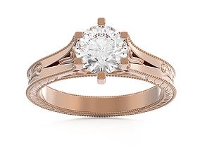 milgrain ring 136 3D printable model