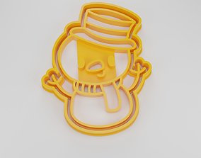 Cookie cutter Snow Man 3D printable model