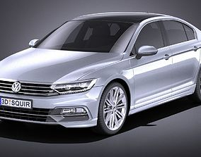 3D model Volkswagen Passat R-line 2015 VRAY