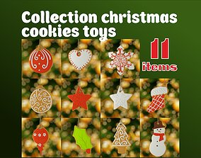 christmas cookies toys 3D
