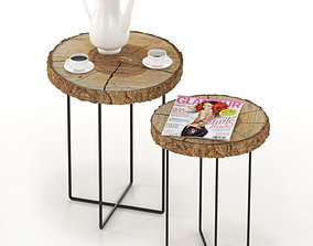 cup A set of coffee tables from slab 3D model