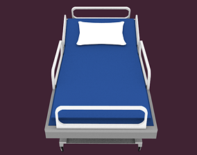 3D model Low-Poly Hospital Bed
