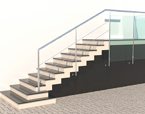 3D model Porch Stair