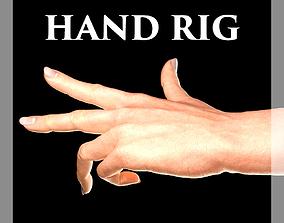 Hand Rigged 3D asset
