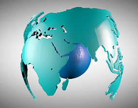 3D model Motion Graphic Earth