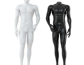 Black and white mannequin for shop 102 3D model