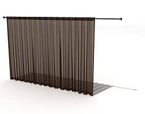3D model Brown Sheer Curtains