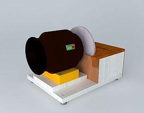Sander bench with motor Emery 3D model
