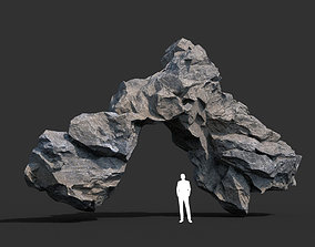 3D asset Gray Rock Formation 10 191227
