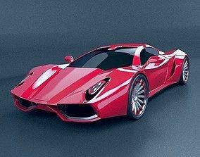 HyperOn supercar concept 3D model