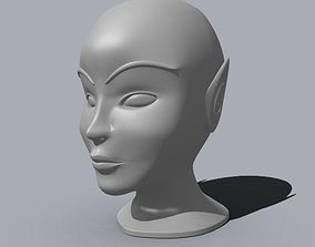 Fairy character head 3D print model