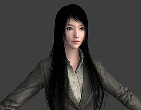 3D model VR / AR ready Realistic Oriental Beauty Female