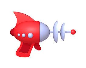 Space Gun Laser Cartoon 3D