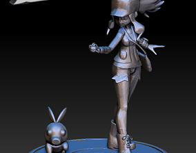 3D print model Pokemon - Hilda Trainer and Tepig
