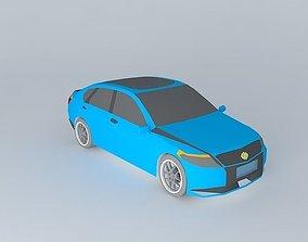 Blue car NEG N3 2004 3D model