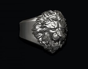 Lion ring rings zbrush 3D print model