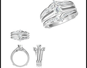 Wedding band rings for women 3d jewelry files for sale