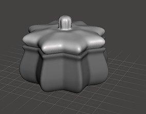 Hexagonal bowl vase box Victorian style 3D printable model