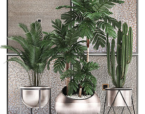 3D Decorative plants in flower pots for the interior 470