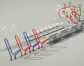 3D Bike Racks collection set