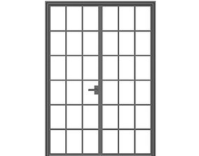 Double Glass Door door 3D model