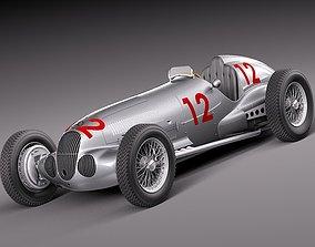 3D model Mercedes-Benz W125 Grand Prix Race Car