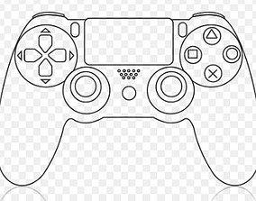 PS4 Controller Cookie Cutter Set 3D print model