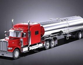 Peterbilt 389 Sleeper Cab Tanker 2017 VRAY 3D