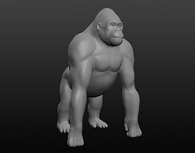 3D model Gorilla base mesh