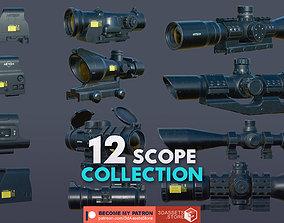 Weapon - Scope Pack Bundle 3D PBR