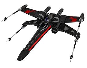 Star Wars X-Wing Black T-70 3D