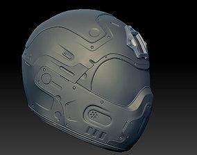 3D asset sci-fi military helmet