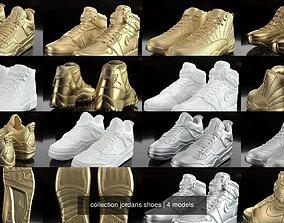 collection jordans shoes 3D