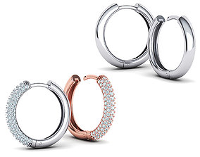 3D model Hoop earrings Collection with discount 20mm size
