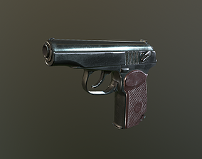 Makarov Pistol 3D asset game-ready