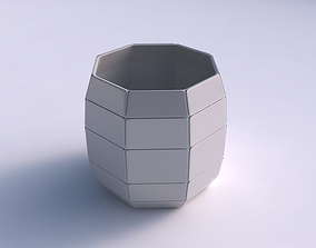 3D printable model Bowl cylindrical with large plates