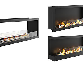 Bio Fireplaces 02 BLENDER 3D Model Cycles